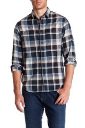 Howe Rag And Stone Plaid Long Sleeve Regular Fit Shirt Blue