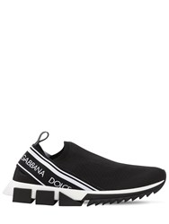 Dolce And Gabbana Sorrento Stretch Slip On Sneakers Black