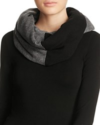 Ugg Fine Gauge Color Block Infinity Scarf Black