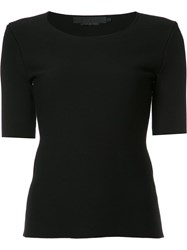Alexander Wang Tubular Stitched Cut Out Back T Shirt Black
