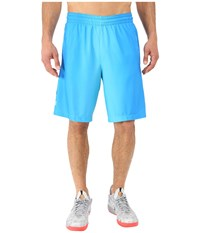 Nike Elite Stripe Plus Basketball Short Omega Blue Black Photo Blue Metallic Silver Men's Shorts