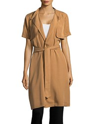 Bcbgeneration Short Sleeve Trench Topper Brown Sugar