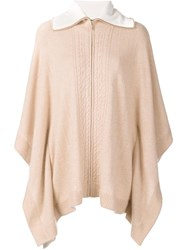 Magaschoni Collar Detail Poncho Nude Neutrals