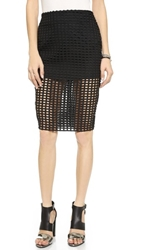 Endless Rose Lattice Skirt Black