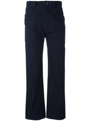 Damir Doma Posy Cropped Trousers Blue