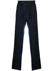Christian Pellizzari Side Striped Relaxed Trousers Blue
