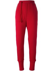 A.F.Vandevorst 'Phone Call' Track Pants Red