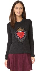 Cinq A Sept Sacred Heart Pullover Charcoal