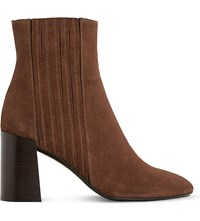 Dune Packmore Suede Ankle Boots Rust Suede