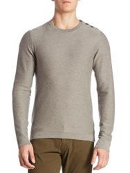 Ralph Lauren Float Button Shoulder Cashmere Sweater Grey