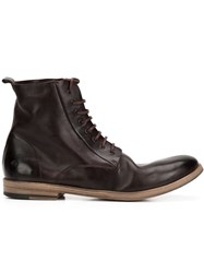 Marsa Ll 'Lista' Lace Up Ankle Boots Brown