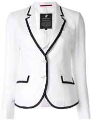 Loveless Contrast Trim Blazer White