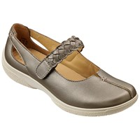 Hotter Shake Adjustable Strap Leather Shoes Pale Bronze