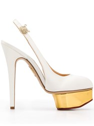 Charlotte Olympia Dolly Satin Slingback Pumps 60