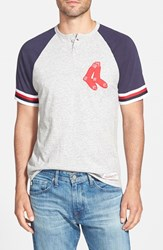 Men's Mitchell And Ness 'Boston Red Sox Visiting' Raglan Henley