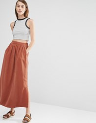 Selected Vilo Maxi Skirt Brown