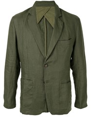 Venroy Fitted Crumpled Blazer Green