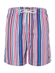 Howick Multi Stripe Swim Shorts Pink