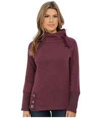 Prana Lucia Sweater Plum Red Women's Sweater