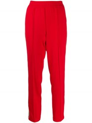 Cambio Side Stripe Track Trousers Red
