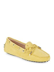 Tod's Italian Leather Boat Shoes Yellow