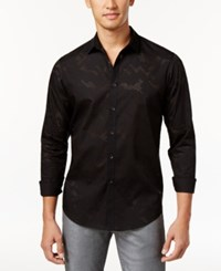Inc International Concepts Men's Perforated Shirt Only At Macy's Black