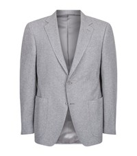 Canali Textured Wool Jacket Male Grey