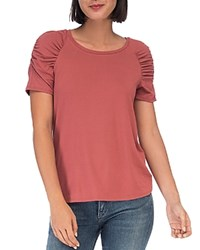 B Collection By Bobeau Thora Puff Sleeve Tee Rich Mauve