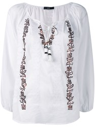 Steffen Schraut Embroidered Sequin Blouse White