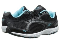 Ryka Dash 2 Black Metallic Iron Grey Winter Blue White Women's Shoes