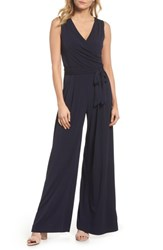 Eliza J Wide Leg Jumpsuit Navy