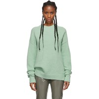 Tibi Green Alpaca Airy Pullover Sweater