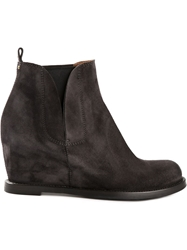 Buttero Wedge Boots Grey