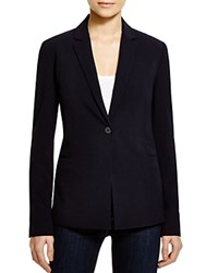 T Tahari Jolie Notch Lapel Blazer Navy