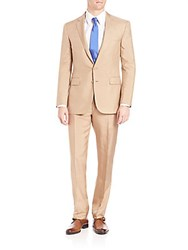 Polo Ralph Lauren Purple Label Silk Shantung Suit Tan