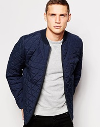 Another Influence Quilted Bomber Jacket Navy