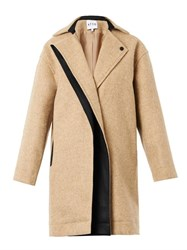 Atto Single Breasted Textured Wool Coat