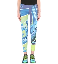 Adidas X Mary Katrantzou Digital Print Jersey Leggings Multco