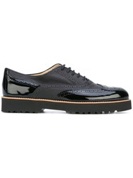 Hogan Lace Up Brogues Women Leather Rubber 36.5 Black