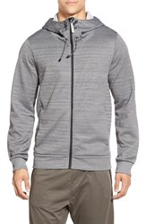 Men's Bench 'Attrition' Trim Fit Funnel Neck Zip Hoodie Anthracite Marl