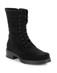 La Canadienne Ginny Lace Up Suede Boots Black