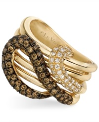 Le Vian Chocolate Diamond And White Diamond Snake 1 1 6 Ct. T.W. In 14K Gold