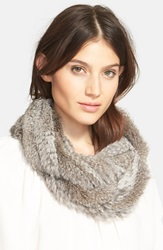 Joie 'Javone' Genuine Rabbit Fur Infinity Scarf Grey Natural