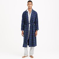 J.Crew Black Watch Flannel Robe