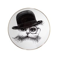 Rory Dobner Perfect Plates Cat In Tilted Hat Large