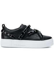 Kennel Schmenger And Embellished Low Top Platform Sneakers Black