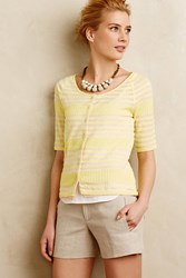 Moth Sunglow Layered Cardi Canary