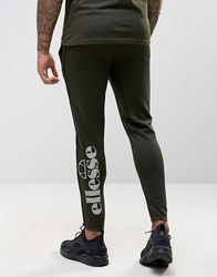 Ellesse Skinny Joggers With Large Logo Green