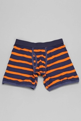 Urban Outfitters Navy Rugby Stripe Boxer Brief