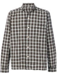Dnl Checked Shirt Men Cotton 40 Brown
